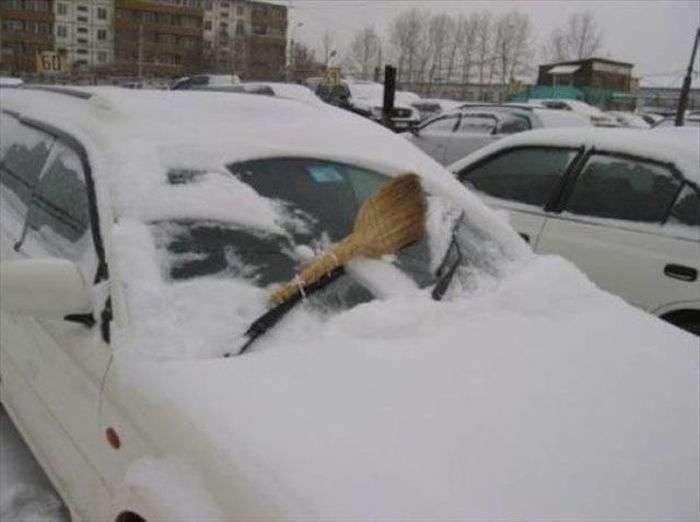 веник - дворник машины
