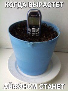 Садим в землю старые телефоны