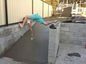 Так надо ровнять бетон