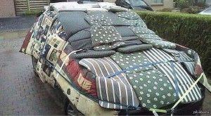 Согрел машину