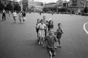 На улицах Москвы. СССР.