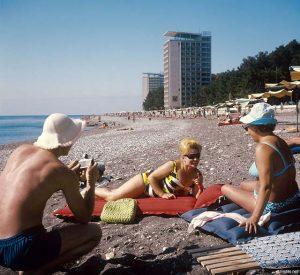 Абхазия. Пляж. СССР