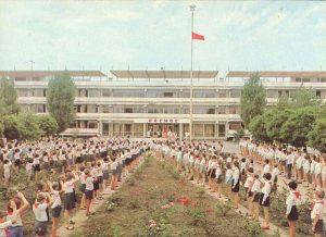 Пионерский лагерь. Линейка. СССР